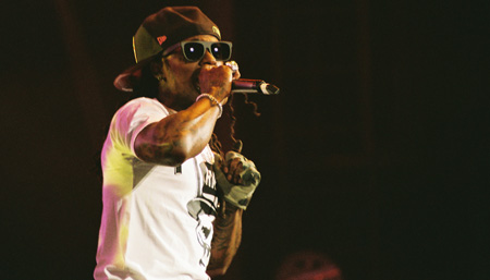 Lil Wayne headlines a tour in Scranton, Pa. Photo by Leon Laing.