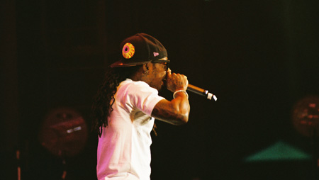 Photo of Lil Wayne in Scranton taken by Leon Laing.
