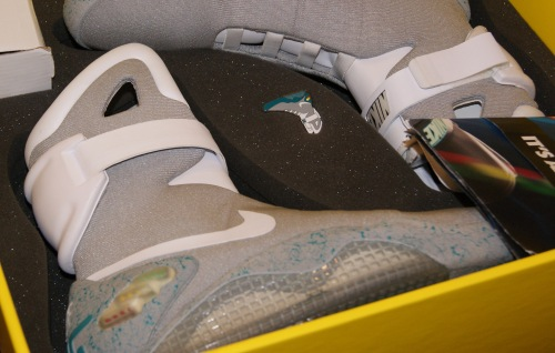 Nike Air Mag from 2013 expo. Photo by Leon Laing.