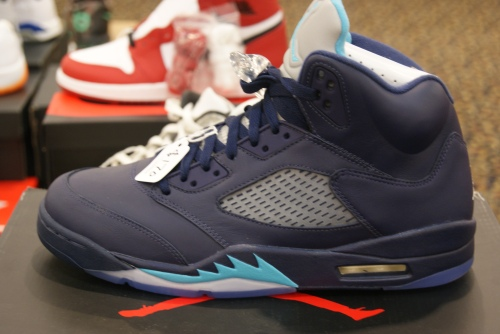 Midnight Navy Air Jordan 5 Retro. Photo by Leon Laing.