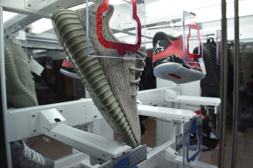The Heat Check sneaker game machine. Photo by Leon Laing.