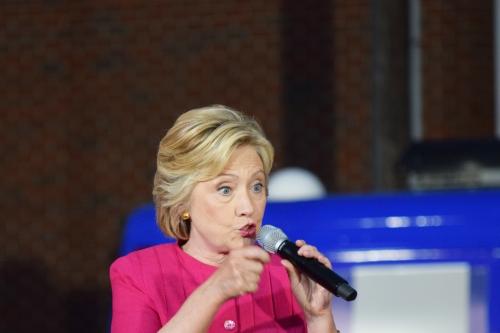 Hillary Clinton. Photo by Leon Laing.