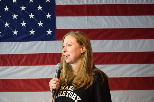 Chelsea Clinton. Photo by Leon Laing.